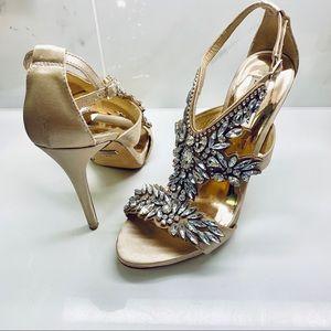 Badgley Mischka Shoes - Badgley Mischka ✨ Capella Crystal Adorned Heels